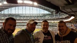 Brian attended Milwaukee Brewers vs. Cincinnati Reds - MLB on Apr 25th 2017 via VetTix