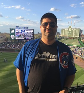 Guadalupe attended Chicago Cubs vs. Milwaukee Brewers - MLB on Apr 18th 2017 via VetTix