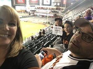 Kari attended Arizona Diamondbacks vs. San Francisco Giants - MLB on Apr 6th 2017 via VetTix