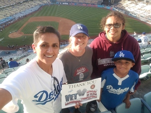 Kristina attended Los Angeles Dodgers vs. Colorado Rockies - MLB on Apr 19th 2017 via VetTix