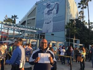 NICHOLSON attended Los Angeles Dodgers vs. Colorado Rockies - MLB on Apr 19th 2017 via VetTix