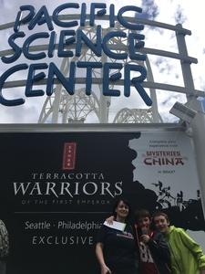 melissa attended Pacific Science Center on May 14th 2017 via VetTix