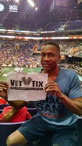 Clark attended Arizona Rattlers vs. Salt Lake Screaming Eagles - IFL on May 20th 2017 via VetTix
