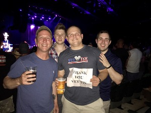 Tyler attended Brad Paisley With Special Guest Dustin Lynch, Chase Bryant, and Lindsay Ell on May 19th 2017 via VetTix