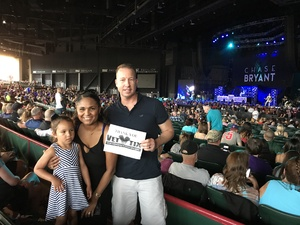 Adam attended Brad Paisley With Special Guest Dustin Lynch, Chase Bryant, and Lindsay Ell on May 19th 2017 via VetTix