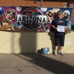 Wilma attended Arizona State Fair Armed Forces Day - Tickets Are Only Good for October 20th on Oct 20th 2017 via VetTix