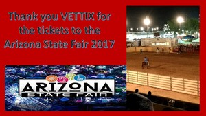 Harry attended Arizona State Fair Armed Forces Day - Tickets Are Only Good for October 20th on Oct 20th 2017 via VetTix
