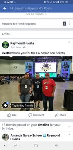 Raymond attended Stan Lee's Los Angeles Comic Con - Tickets Are Good for All 3 Days on Oct 27th 2017 via VetTix