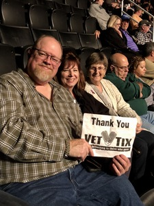 Peter attended Soul2Soul Tour With Faith Hill and Tim McGraw on Oct 27th 2017 via VetTix