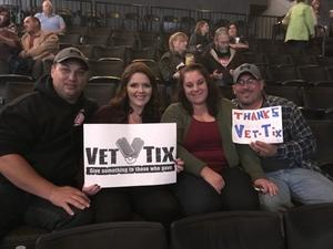 Tyler attended Soul2Soul Tour With Faith Hill and Tim McGraw on Oct 27th 2017 via VetTix