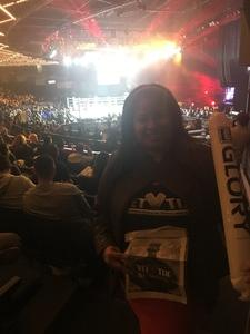 Katty attended Glory 48 New York - Presented by Glory Kickboxing - Live at Madison Square Garden on Dec 1st 2017 via VetTix