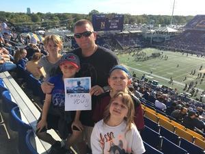 John attended Navy Midshipmen vs. UCF - NCAA Football on Oct 21st 2017 via VetTix