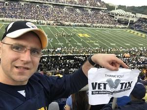 Justin attended Navy Midshipmen vs. UCF - NCAA Football on Oct 21st 2017 via VetTix