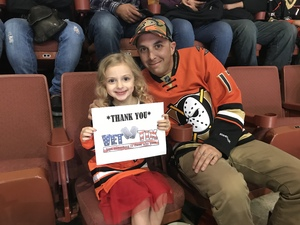 Carl attended Anaheim Ducks vs. Vegas Golden Knights - NHL on Nov 22nd 2017 via VetTix