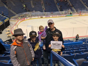 Matthew attended Hartford Wolf Pack vs. Rochester Americans - AHL on Mar 18th 2018 via VetTix