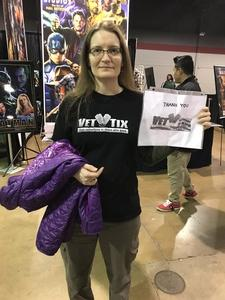 Jennifer attended Heroes and Villains Fan Fest on Apr 7th 2018 via VetTix
