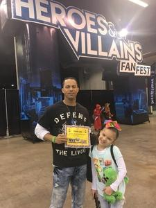 Jermaine attended Heroes and Villains Fan Fest on Apr 7th 2018 via VetTix