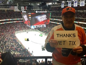 Leonard attended New Jersey Devils vs. Philadelphia Flyers - NHL on Jan 13th 2018 via VetTix
