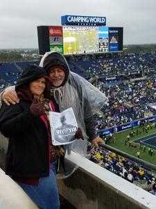 Patricia attended Citrus Bowl Presented by Overton's - Notre Dame Fighting Irish vs. LSU Tigers - NCAA Football on Jan 1st 2018 via VetTix