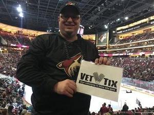 Brad attended Arizona Coyotes vs. San Jose Sharks - NHL on Jan 16th 2018 via VetTix
