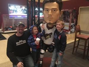 Jared attended Arizona Coyotes vs. San Jose Sharks - NHL on Jan 16th 2018 via VetTix