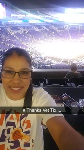 Anne attended Phoenix Suns vs. Dallas Mavericks - NBA - Suite on Jan 31st 2018 via VetTix