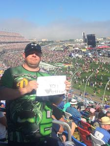 Nicholas attended Daytona 500 - the Great American Race - Monster Energy NASCAR Cup Series on Feb 18th 2018 via VetTix