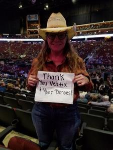 Diane McGuyer attended Brad Paisley - Weekend Warrior World Tour With Dustin Lynch, Chase Bryant and Lindsay Ell on Jan 27th 2018 via VetTix