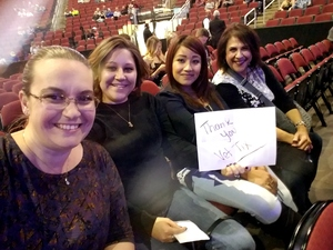 Ashley attended Brad Paisley - Weekend Warrior World Tour With Dustin Lynch, Chase Bryant and Lindsay Ell on Jan 27th 2018 via VetTix