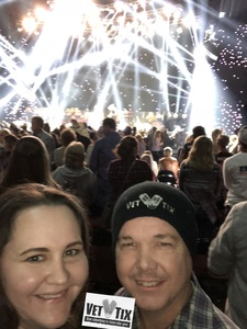 Glenn attended Brad Paisley - Weekend Warrior World Tour With Dustin Lynch, Chase Bryant and Lindsay Ell on Jan 27th 2018 via VetTix