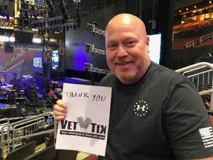 Richard attended Brad Paisley - Weekend Warrior World Tour With Dustin Lynch, Chase Bryant and Lindsay Ell on Jan 27th 2018 via VetTix