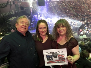 Deborah attended Brad Paisley - Weekend Warrior World Tour With Dustin Lynch, Chase Bryant and Lindsay Ell on Jan 27th 2018 via VetTix