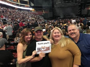 Robert attended Brad Paisley - Weekend Warrior World Tour With Dustin Lynch, Chase Bryant and Lindsay Ell on Jan 27th 2018 via VetTix