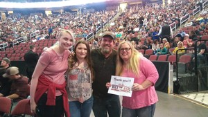 Kendra and Les attended Brad Paisley - Weekend Warrior World Tour With Dustin Lynch, Chase Bryant and Lindsay Ell on Jan 27th 2018 via VetTix