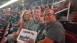 Wil attended Brad Paisley - Weekend Warrior World Tour With Dustin Lynch, Chase Bryant and Lindsay Ell on Jan 27th 2018 via VetTix