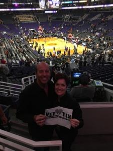 Frederick attended Phoenix Suns vs. San Antonio Spurs - NBA on Feb 7th 2018 via VetTix