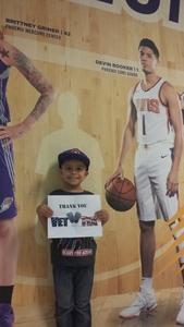 A grateful Military Family attended Phoenix Suns vs. Denver Nuggets - NBA on Feb 10th 2018 via VetTix