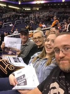 Mori attended Phoenix Suns vs. Denver Nuggets - NBA on Feb 10th 2018 via VetTix