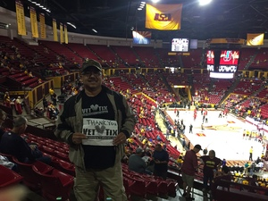 miguel attended Arizona State University Sun Devils vs. Stanford - NCAA Men's Basketball on Mar 3rd 2018 via VetTix