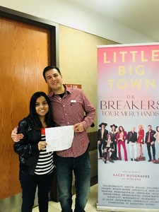 david attended The Breakers Tour Featuring Little Big Town With Kacey Musgraves and Midland on Feb 9th 2018 via VetTix