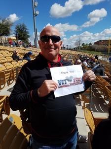 Alfred attended Chicago White Sox vs. Texas Rangers - MLB Spring Training on Feb 28th 2018 via VetTix