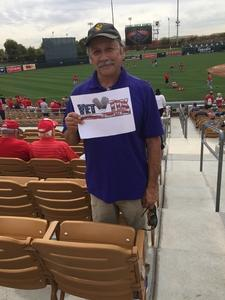 Randy attended Chicago White Sox vs. Cincinnati Reds - MLB Spring Training on Mar 7th 2018 via VetTix