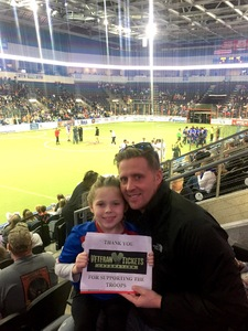 Casey attended Kansas City Comets vs. Harrisburg Heat - Major Arena Soccer League on Feb 17th 2018 via VetTix