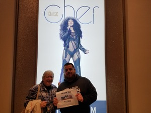 Jeff attended Cher Live at the MGM National Harbor Theater on Feb 22nd 2018 via VetTix