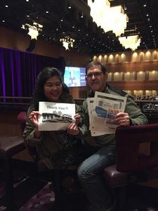 Bob & Tess attended Cher Live at the MGM National Harbor Theater on Feb 22nd 2018 via VetTix