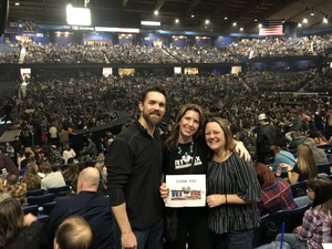 Sara attended Brad Paisley - Weekend Warrior World Tour With Dustin Lynch, Chase Bryant and Lindsay Ell on Feb 24th 2018 via VetTix