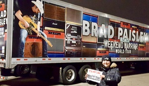 Jeremy attended Brad Paisley - Weekend Warrior World Tour With Dustin Lynch, Chase Bryant and Lindsay Ell on Feb 24th 2018 via VetTix
