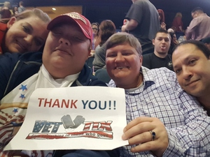 Michelle attended Brad Paisley - Weekend Warrior World Tour With Dustin Lynch, Chase Bryant and Lindsay Ell on Feb 24th 2018 via VetTix
