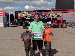 thomas attended 2018 TicketGuardian 500 - Monster Energy NASCAR Cup Series on Mar 11th 2018 via VetTix