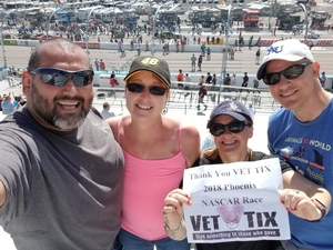 Peter attended 2018 TicketGuardian 500 - Monster Energy NASCAR Cup Series on Mar 11th 2018 via VetTix